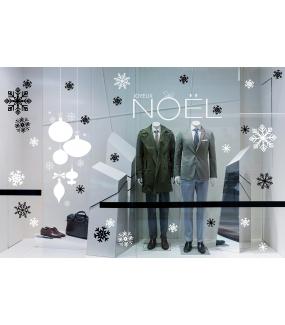 Sticker-gros-cristaux-blancs-thème-moderne-graphique-vitrophanie-décoration-vitrine-noël-électrostatique-sans-colle-repositionnable-réutilisable-DECO-VITRES