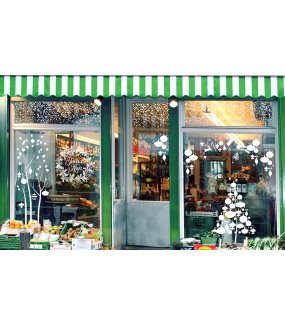 Sticker-couronne-de-noël-texte-joyeux-noël-cristaux-pommes-de-pin-blanc-vitrophanie-décoration-vitrine-noël-électrostatique-sans-colle-repositionnable-réutilisable-DECO-VITRES