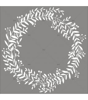 Sticker-couronne-de-laurier-blanche-pour-focus-printemps-été-vitrophanie-décoration-vitrine-noël-printanière-estivale-hivernale-électrostatique-sans-colle-repositionnable-réutilisable-DECO-VITRES