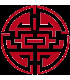 Sticker-porte-bonheur-asiatique-ambiance-décoration-asie-zen-adhésif-teinté-dans-la-masse-26-couleurs-au-choix-découpé-mural-ou-vitres-décoration-intérieure-DECO-VITRES
