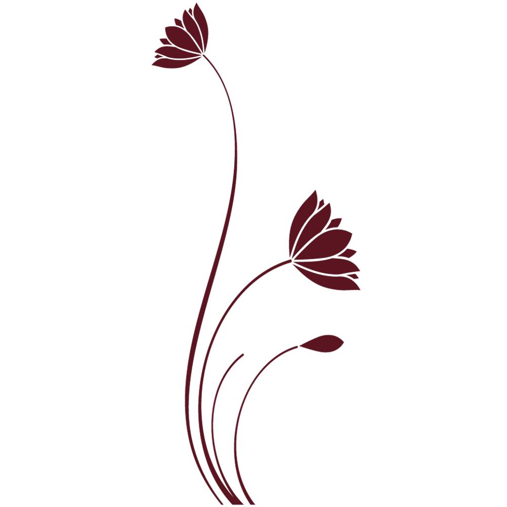 Sticker-fleurs-indiennes-Inde-asiatique-ambiance-décoration-asie-zen-adhésif-teinté-dans-la-masse-26-couleurs-au-choix-découpé-mural-ou-vitres-décoration-intérieure-DECO-VITRES