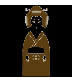 Sticker-japonaise-geisha-stylisée-Japon-asiatique-ambiance-décoration-asie-zen-adhésif-teinté-dans-la-masse-26-couleurs-au-choix-découpé-mural-ou-vitres-décoration-intérieure-DECO-VITRES