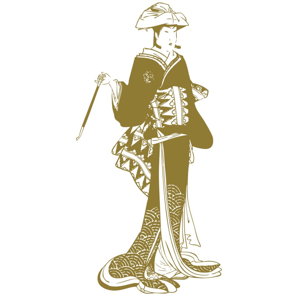 Sticker-japonaise-geisha-Japon-asiatique-ambiance-décoration-asie-zen-adhésif-teinté-dans-la-masse-26-couleurs-au-choix-découpé-mural-ou-vitres-décoration-intérieure-DECO-VITRES