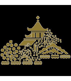 Sticker-pagode-ambiance-décoration-retro-asie-zen-adhésif-teinté-dans-la-masse-26-couleurs-au-choix-découpé-mural-ou-vitres-décoration-intérieure-DECO-VITRES