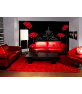 Sticker-fleurs-de-lotus-ambiance-décoration-retro-asie-zen-adhésif-teinté-dans-la-masse-26-couleurs-au-choix-découpé-mural-ou-vitres-décoration-intérieure-DECO-VITRES