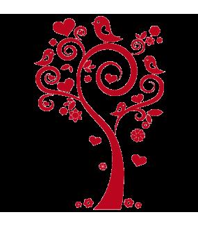 Sticker-arbre-coeurs-et-oiseaux-roses-chambre-bébé-enfant-adhésif-teinté-dans-la-masse-26-couleurs-au-choix-découpé-mural-ou-vitres-décoration-intérieure-DECO-VITRES
