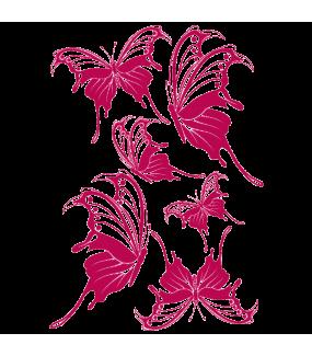 Stickers-6-papillons-printemps-animaux-chambre-bébé-enfant-cuisine-salon-mural-adhésif-teinté-dans-la-masse-26-couleurs-au-choix-découpé-mural-ou-vitres-décoration-intérieure-DECO-VITRES