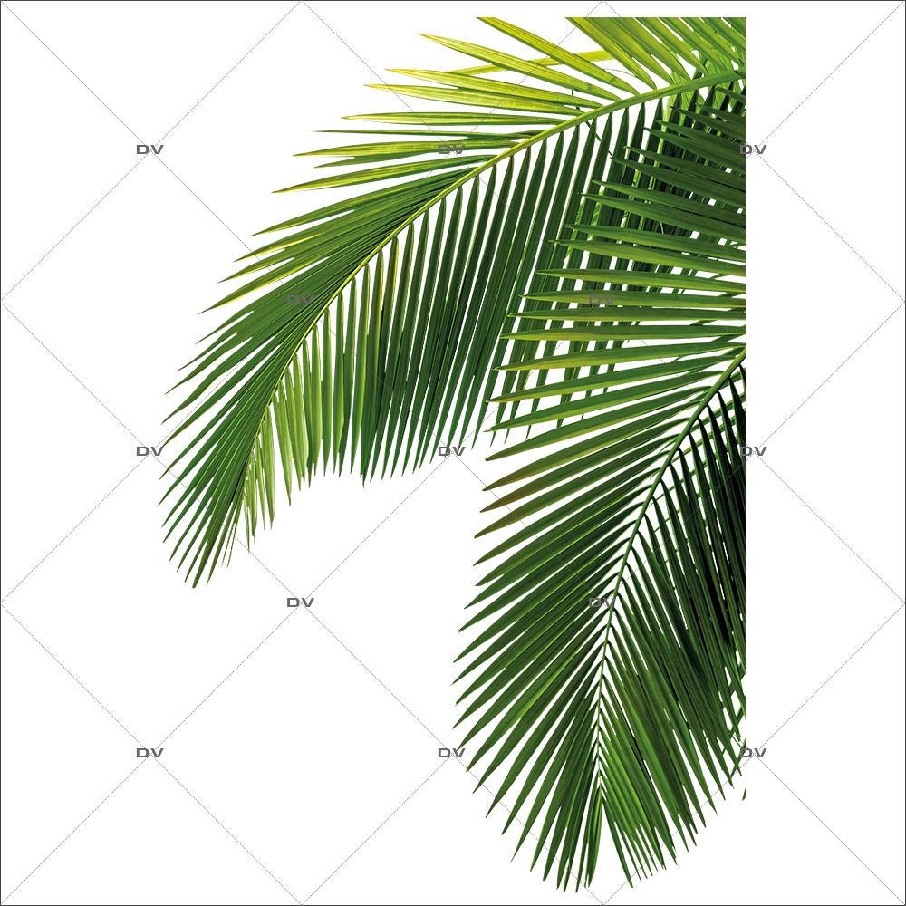 Sticker-angle-feuille-de-palmiers-exotique-mer-vacances-tropical-été-vitrophanie-décoration-vitrine-estivale-électrostatique-sans-colle-repositionnable-réutilisable-DECO-VITRES