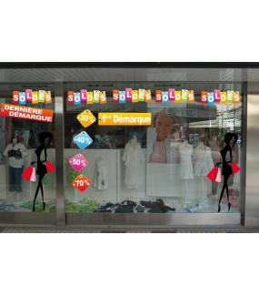 Sticker-frise-étiquette-2ème-démarque-soldes-vitrophanie-décoration-vitrine-promotionnelle-électrostatique-sans-colle-repositionnable-réutilisable-DECO-VITRES