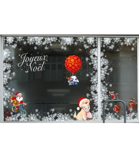 Sticker-chien-et-chat-de-noël-vitrophanie-décoration-vitrine-noël-électrostatique-sans-colle-repositionnable-réutilisable-DECO-VITRES