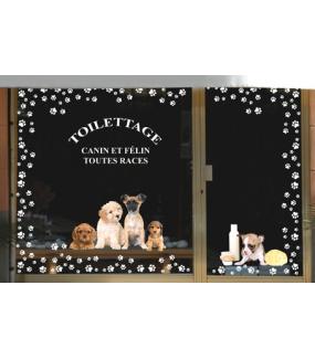 Sticker-frises-empreintes-de-pattes-blanches-toilettage-chien-chat-vitrophanie-décoration-vitrine-toiletteur-électrostatique-sans-colle-repositionnable-réutilisable-DECO-VITRES
