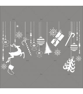 Sticker-frise-de-noël-icônes-boules-sapin-cristaux-renne-paquets-cadeaux-thème-blanc-évidé-vitrophanie-décoration-vitrine-noël-électrostatique-sans-colle-repositionnable-réutilisable-DECO-VITRES