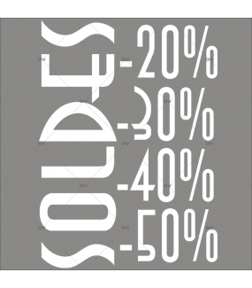 Sticker-soldes-pourcentages-textes-blancs-vitrophanie-décoration-vitrine-promotionnelle-électrostatique-sans-colle-repositionnable-réutilisable-DECO-VITRES