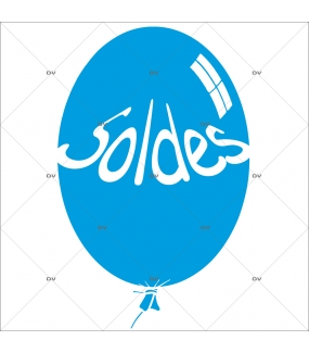 Sticker-ballon-soldes-bleu-vitrophanie-décoration-vitrine-promotionnelle-électrostatique-sans-colle-repositionnable-réutilisable-DECO-VITRES