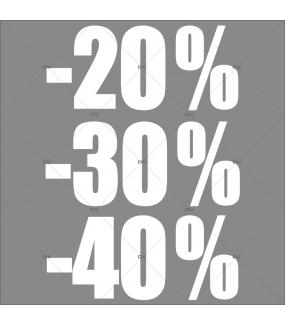 sticker-soldes-pourcentages-20-30-40-blancs-vitrophanie-décoration-vitrine-promotionnelle-électrostatique-sans-colle-repositionnable-réutilisable-DECO-VITRES