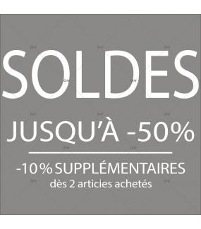 Sticker-soldes-50-%-10-%-supplémentaires-blanc-vitrophanie-décoration-vitrine-promotionnelle-électrostatique-sans-colle-repositionnable-réutilisable-DECO-VITRES