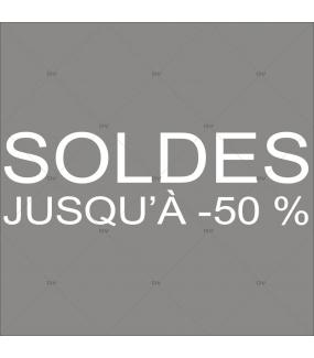 Sticker-soldes-50-%-blanc-vitrophanie-décoration-vitrine-promotionnelle-électrostatique-sans-colle-repositionnable-réutilisable-DECO-VITRES