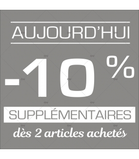 Sticker-soldes-10-%-supplémentaire-aujourd'hui-blanc-vitrophanie-décoration-vitrine-promotionnelle-électrostatique-sans-colle-repositionnable-réutilisable-DECO-VITRES