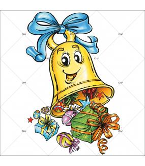 Sticker-cloche-cadeaux-oeufs-multicolores-printemps-vitrophanie-décoration-vitrine-pâques-printanière-électrostatique-sans-colle-repositionnable-réutilisable-DECO-VITRES