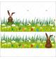 Sticker-frises-lapins-herbes-oeufs-de-pâques-vitrophanie-décoration-vitrine-pâques-printanière-électrostatique-sans-colle-repositionnable-réutilisable-DECO-VITRES