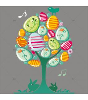 Sticker-arbre-à-oeufs-de-pâques-vitrophanie-décoration-vitrine-pâques-printanière-électrostatique-sans-colle-repositionnable-réutilisable-DECO-VITRES