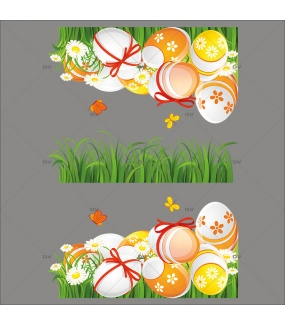 Sticker-angles-oeufs-de-pâques-herbes-fleurs-pâquerettes-papillons-rubans-noeuds-vitrophanie-décoration-vitrine-pâques-printanière-électrostatique-sans-colle-repositionnable-réutilisable-DECO-VITRES