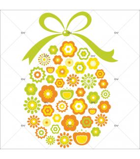 Sticker-oeufs-de-pâques-en-fleurs-vitrophanie-décoration-vitrine-pâques-printanière-électrostatique-sans-colle-repositionnable-réutilisable-DECO-VITRES