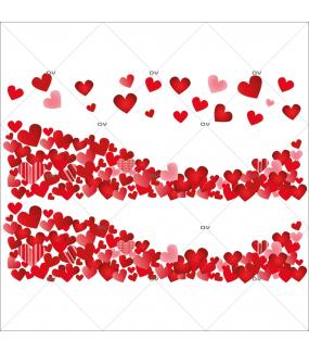 Sticker-frises-entourage-coeurs-rouges-vitrophanie-décoration-vitrine-saint-valentin-fêtes-mères-pères-promotions-soldes-électrostatique-sans-colle-repositionnable-réutilisable-DECO-VITRES