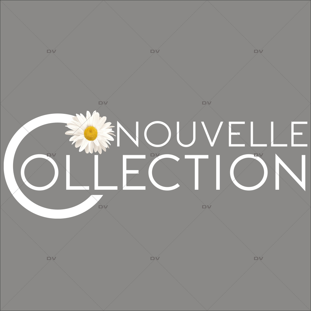 Sticker-nouvelle-collection-pâquerette-printemps-vitrophanie-décoration-vitrine-promotionnelle-électrostatique-sans-colle-repositionnable-réutilisable-DECO-VITRES