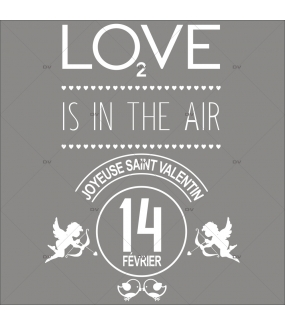 Sticker-bannière-texte-St-Valentin-blanc-coeurs-all-we-need-is-love-vitrophanie-décoration-vitrine-saint-valentin-boutique-lingerie-électrostatique-sans-colle-repositionnable-réutilisable-DECO-VITRES