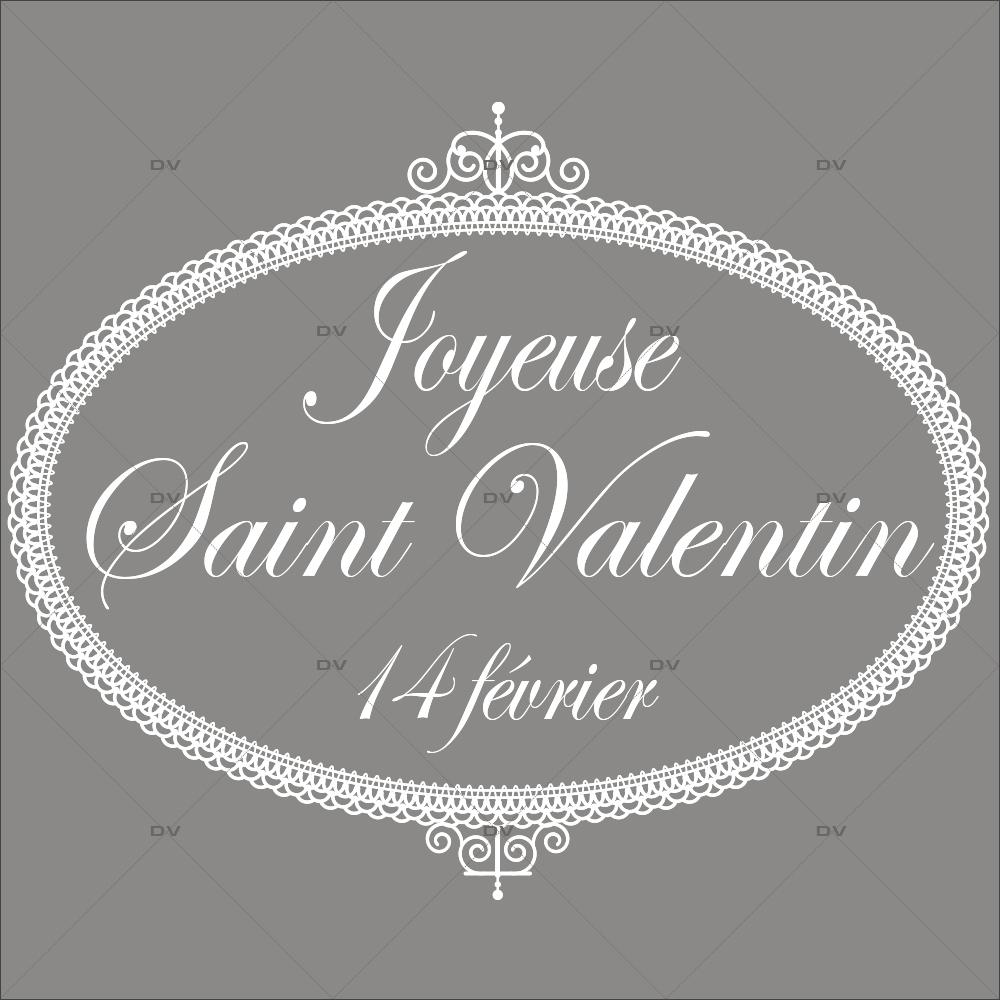 Sticker-médaillon-dentelle-texte-St-Valentin-blanc-vitrophanie-décoration-vitrine-saint-valentin-boutique-lingerie-électrostatique-sans-colle-repositionnable-réutilisable-DECO-VITRES