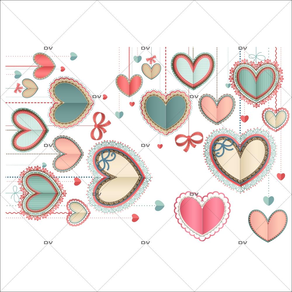 Sticker-angles-de-coeurs-dentelle-scrapbooking-vitrophanie-décoration-vitrine-fêtes-grands-mères-pères-st-valentin-soldes-électrostatique-sans-colle-repositionnable-réutilisable-DECO-VITRES