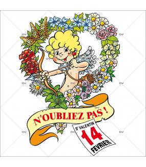 Sticker-cupidon-coeur-de-fleurs-14-février-vitrophanie-décoration-vitrine-saint-valentin-électrostatique-sans-colle-repositionnable-réutilisable-DECO-VITRES
