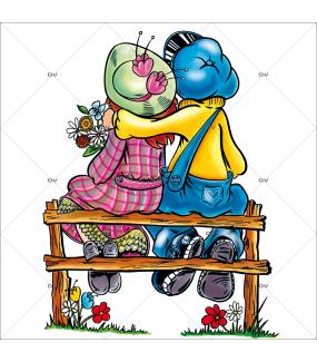 Sticker-amoureux-banc-assis-de-dos-14-février-vitrophanie-décoration-vitrine-saint-valentin-électrostatique-sans-colle-repositionnable-réutilisable-DECO-VITRES