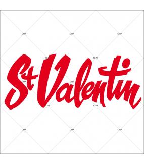 Sticker-texte-St-Valentin-rouge-vitrophanie-décoration-vitrine-saint-valentin-électrostatique-sans-colle-repositionnable-réutilisable-DECO-VITRES