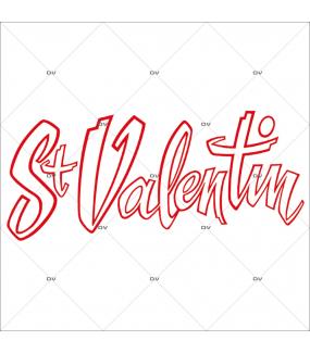 Sticker-texte-St-Valentin-blanc-rouge-vitrophanie-décoration-vitrine-saint-valentin-électrostatique-sans-colle-repositionnable-réutilisable-DECO-VITRES