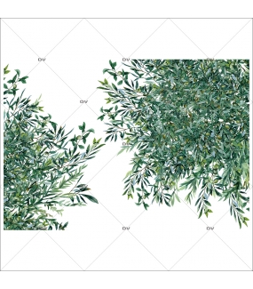 Sticker-angles-branches-rameaux-olivier-provence-arbre-olives-printemps-été-vitrophanie-décoration-vitrine-estivale-printanière-électrostatique-sans-colle-repositionnable-réutilisable-DECO-VITRES