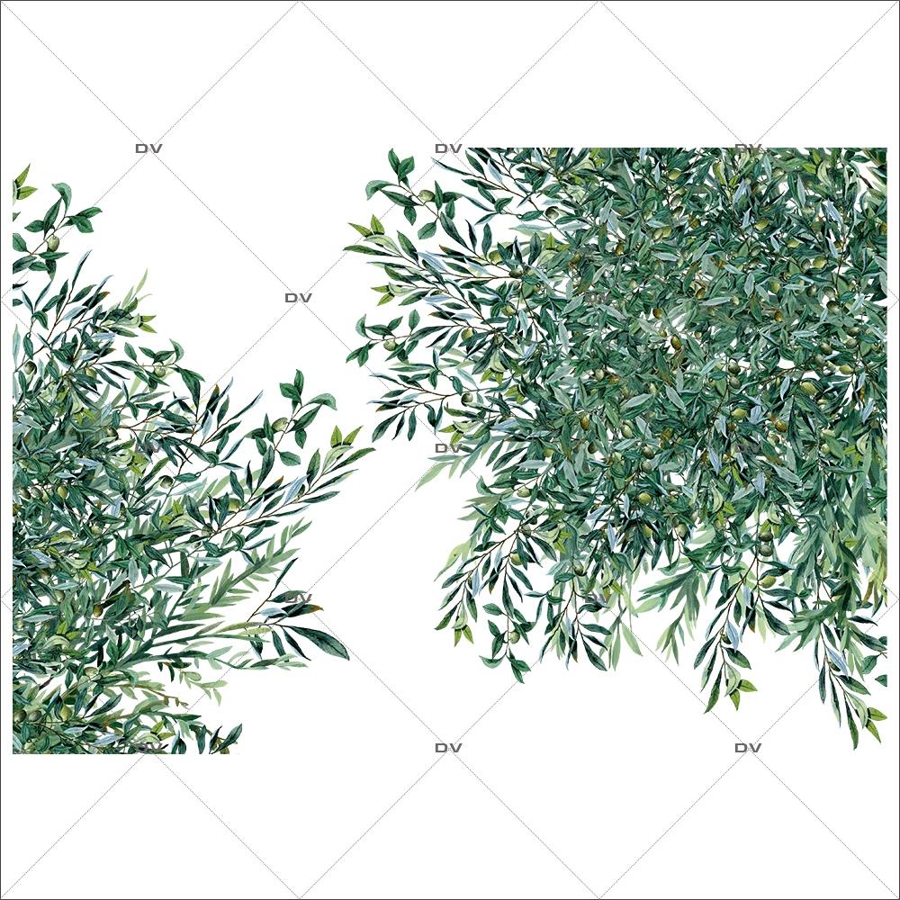 Sticker-angles-branches-rameaux-olivier-provence-arbre-olives-printemps-été-vitrophanie-décoration-vitrine-estivale-printanière-électrostatique-sans-colle-repositionnable-réutilisable-DECO-VITRES