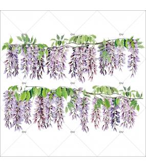 Sticker-frises-de-glycines-fleurs-printemps-été-vitrophanie-décoration-vitrine-printanière-estivale-électrostatique-sans-colle-repositionnable-réutilisable-DECO-VITRES
