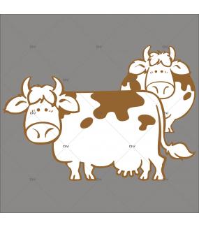 Sticker-2-vaches-printemps-été-vitrophanie-décoration-vitrine-boucherie-charcuterie-épicerie-fine-restaurant-électrostatique-sans-colle-repositionnable-réutilisable-DECO-VITRES
