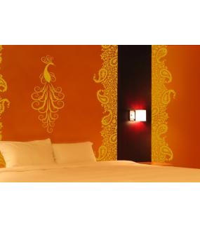 Sticker-paon-oiseau-animal-décoration-zen-adhésif-teinté-dans-la-masse-26-couleurs-au-choix-découpé-mural-ou-vitres-décoration-intérieure-DECO-VITRES