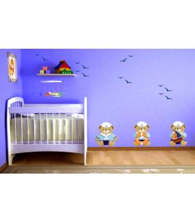 Stickers-16-mouettes-chambre-bébé-enfant-adhésif-teinté-dans-la-masse-26-couleurs-au-choix-découpé-mural-ou-vitres-décoration-intérieure-DECO-VITRES