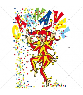 Sticker-joker-confetti-vitrophanie-décoration-vitrine-carnaval-électrostatique-sans-colle-repositionnable-réutilisable-DECO-VITRES