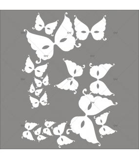 Sticker-angles-de-masques-vénitiens-loups-blancs-vitrophanie-décoration-vitrine-carnaval-électrostatique-sans-colle-repositionnable-réutilisable-DECO-VITRES