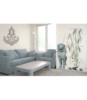 photo-stickers-muraux-ambiance-asie-bouddha-lion-thai-bambous-zen-DECO-VITRES