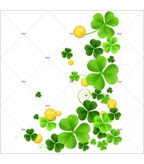 sticker-angle-trèfles-pièces--st-patrick-day-decoration-vitrine-vitrophanie-electrostatique-DECO-VITRES-STP1
