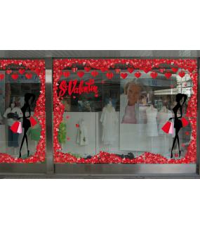 Sticker-frises-entourage-coeurs-rouges-vitrophanie-décoration-vitrine-saint-valentin-DECO-VITRES