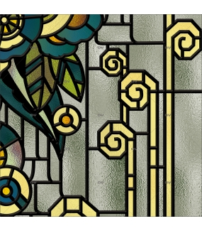 Détail-sticker-vitrail-art-deco-retro-vintage-fleurs-vitrophanie-électrostatique-ou-adhésif-décoration-fenêtres-DECO-VITRES