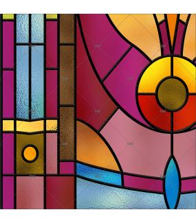 Sticker-vitrail-fleur-art-deco-retro-vintage-électrostatique-sans-colle-ou-adhésif-décoration-fenêtres-DECO-VITRES