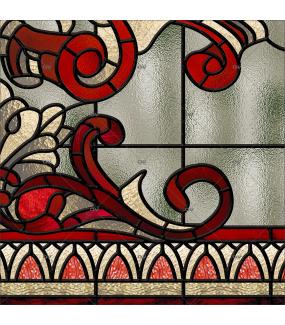 Sticker-vitrail-art-deco-retro-vintage-vitrophanie-électrostatique-sans-colle-ou-adhésif-décoration-fenêtres-vitres-DECO-VITRES